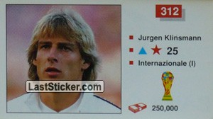 Jurgen Klinsmann (West Germany)
