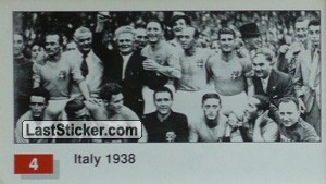 Italy (Winner Team Photo WC-1938) (History of the World Cup)
