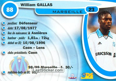 William Gallas (Olympic Marseille) - Back