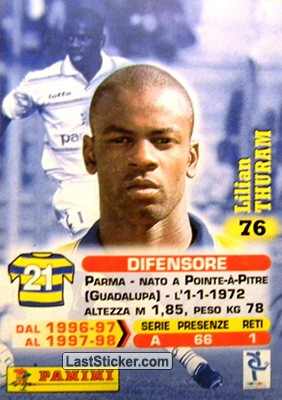 Lilian Thuram (Parma) - Back
