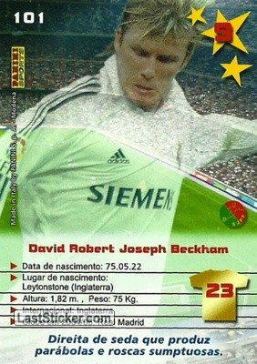 David Beckham (Real Madrid) - Back