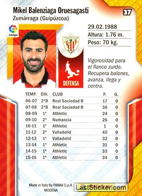 Balenziaga (Athletic Club) - Back