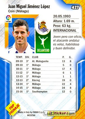 Juanmi (Real Sociedad) - Back
