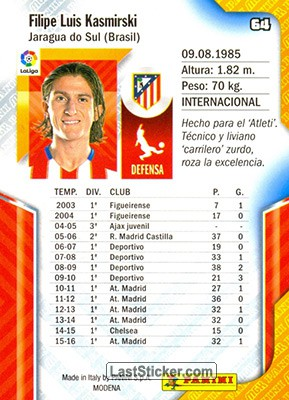 Filipe Luis (Atlético de Madrid) - Back