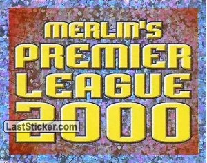 Merlin Premier League 2000 (advert sticker)