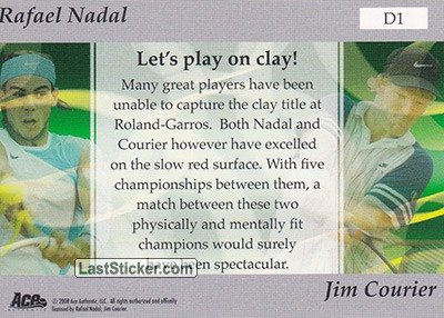 Rafael Nadal/Jim Courier (Dual Match Up) - Back
