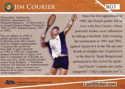 Jim Courier (French Open Memories) - Back