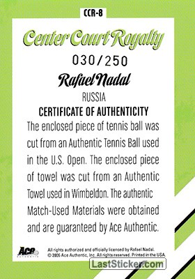 Rafael Nadal (Center Court Royalty) - Back