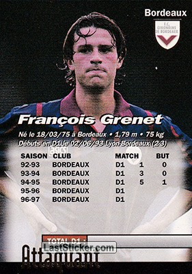 Francois Grenet (Bordeaux) - Back