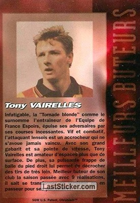 Tony Vairelles (RC Lens) - Back