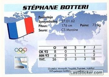 Stephane Botteri (Team France) - Back