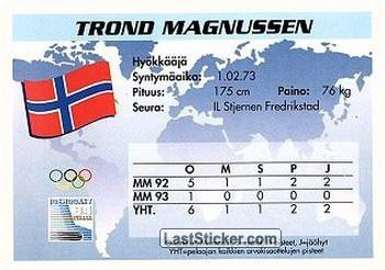 Trond Magnussen (Team Norway) - Back