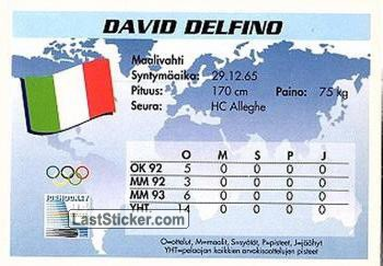 David Delfino (Team Italy) - Back