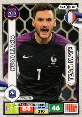FRANCE Road To World Cup 2018 card/s  Panini Adrenalyn Soccer Cards