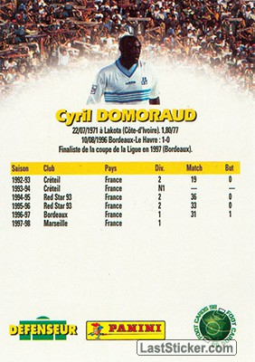 Cyril Domoraud (Marseille) - Back