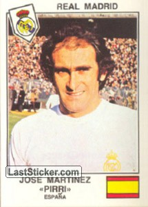 Pirri(Real Madrid) (The Stars of the European Cup 1978-79)