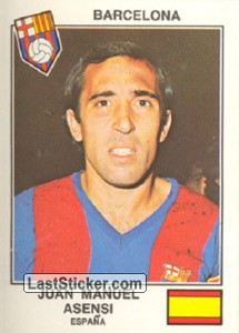 Asensi(Barcelona) (The Stars of the European Cup-Winners Cup 1978-79)
