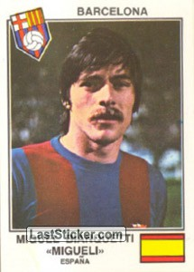 Migueli(Barcelona) (The Stars of the European Cup-Winners Cup 1978-79)