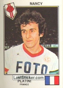 Platini(Nancy) (The Stars of the European Cup-Winners Cup 1978-79)