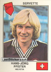 Pfister(Servette) (The Stars of the European Cup-Winners Cup 1978-79)