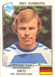 Dietz(MSV Duisburg) (The Stars of the UEFA Cup 1978-79)
