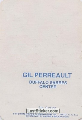 Gilbert Perreault (Buffalo Sabres) - Back