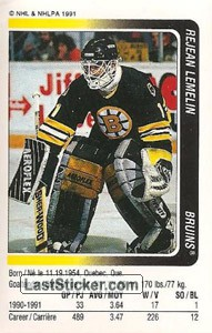 Rejean Lemelin (Boston Bruins)