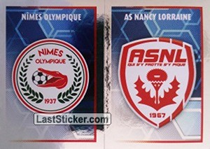 Écusson (AS Nancy Lorraine / Nîmes Olympique) (Ligue 2)