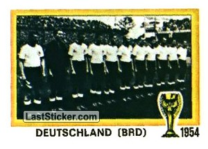 Champions West Germany (History: WC 1954)