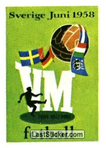 Poster Sweden 1958 (History: WC 1958)
