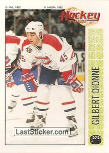 Gilbert Dionne (1992 NHL's Top Rookies)