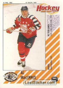 Al MacInnis (1992 All-Star Game)