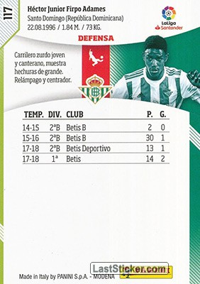 Junior (Real Betis) - Back