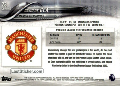 David de Gea (Manchester United) - Back