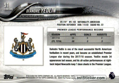 DeAndre Yedlin (Newcastle United) - Back