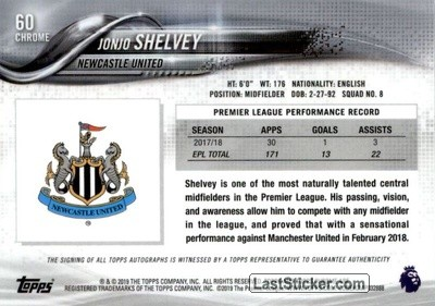 Jonjo Shelvey (Newcastle United) - Back