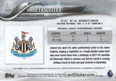 Jamaal Lascelles (Newcastle United) - Back