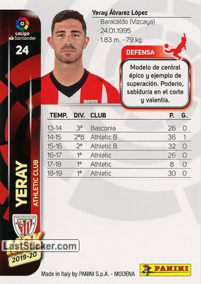 Yeray (Athletic Club) - Back