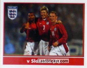 A.Cole/Beckham/Butt (v Slovakia Away) (The Road to Portugal)