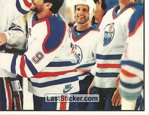 Edmonton Oilers with the Stanley Cup (4 of 4) (1988 Stanley Cup)
