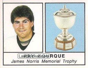 James Norris Memorial Trophy - Ray Bourque (1987-1988 Leaders)