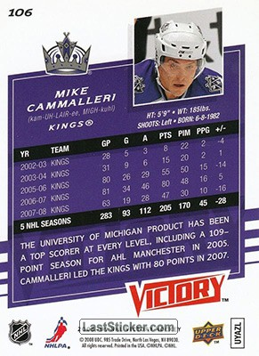 Mike Cammalleri (Los Angeles Kings) - Back