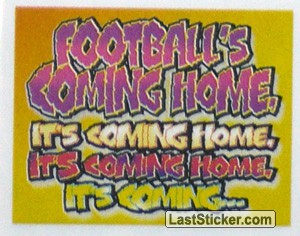"Slogan ""Football's Coming Home"" (England Team Poster)"