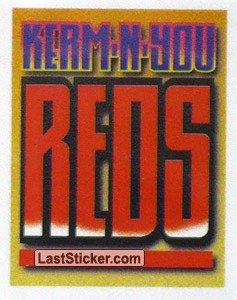 "Slogan ""Kerm-n-you Reds"" (England Team Poster)"