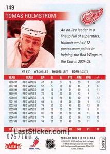 Tomas Holmstrom (Detroit Red Wings) - Back