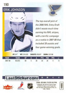 Erik Johnson (St. Louis Blues) - Back
