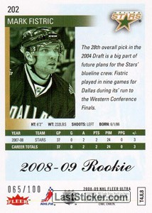 Mark Fistric (Dallas Stars) - Back
