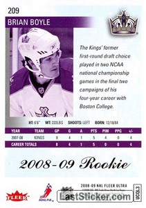 Brian Boyle (Los Angeles Kings) - Back