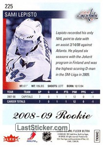 Sami Lepisto (Washington Capitals) - Back