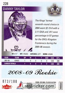 Danny Taylor (Los Angeles Kings) - Back